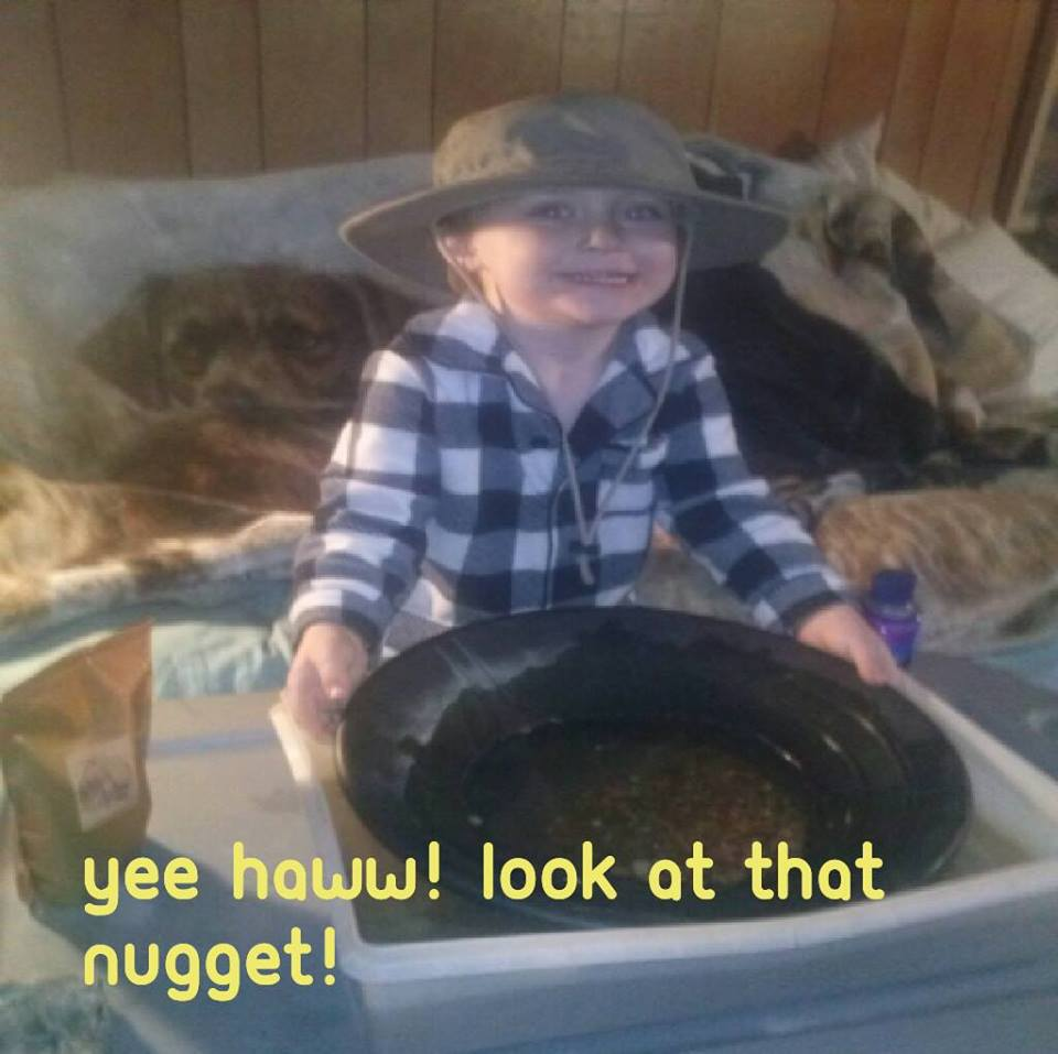 Yee haww! Look at that nugget!